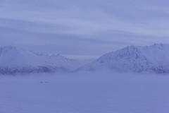 Foggy day in Alaska (Yu Takada) Tags: alaska foggy fog mountain snow winter lake white glacier morning