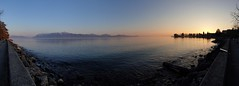 Evening sun over Lac Leman, Ouchy, Lausanne, Switzerland (timothyhart) Tags: switzerland ouchy lausanne lakegeneva eveningsun snowcappedmountains