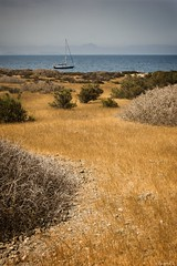 warm air (to Terry) (*BegoñaCL) Tags: tabarca alicante sea mediterráneo ship horizon yellow begoñacl island