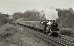 Black And White Black Jube Near Cherry Tree. (Neil Harvey 156) Tags: steam railway 45690 leander pleasington cherrytree backline thepennineblackpoolexpress 1z87 jubilee lms stanier 5xp brblack