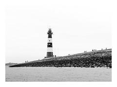Zeeland (sw188) Tags: holland zeeland breskens leuchtturm strand meer sw street bw blackandwhite