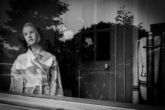 Carmel, CA (Clarkson Urban & Street Photogrpahy) Tags: bwblackwhite carmelca mane mannequin window carmel ca usa