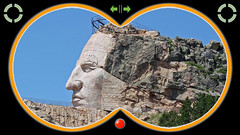Crazy Horse Mountain Monument South Dakota ... (Davey Z(2)) Tags: crazy horse mountain monument rock lakota indian south dakota 2006 face outstretched arm blue sky unfinished native american blasting granite eyes nose mouth detail davey z 1 2 3 profile binoculars