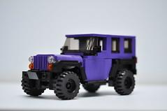 dat purp! (tehLEGOman) Tags: lego legocity legojeep jeep jk purplejeep sahara