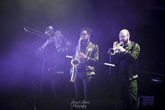 Arkells - Horn Section (TheSamuelYears) Tags: arkells rallycrytour winnipeg bellmtsplace horns saxophone trumpet trombone trio venue concert concertvenue stagephotography nikon nikond3400 stage stageact live livemusic music musician musicians altrock rockband canadian canadianmusic canadianband band tour blue purple indoors inside indoor wpg
