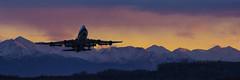 747F Takeoff Sunset (Akfotoman) Tags: alaska anchorage tedstevensairport aircargo cargotransfer tsaia panc ak usa