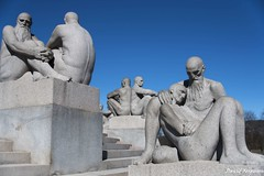 Couples in Different Stages of Life (Daveoffshore) Tags: oslo norway statue art couple caring stone life journey emotion vigeland park sculpture daveoffshore