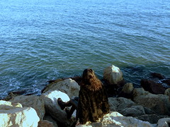 Aousten Saw in Sitges (Catalonia) by Jakub-Monika Lampart, 2019. (AoustenSaw) Tags: aousten saw aoustensaw jakubmonika jakubmonikalampart jakub monika lampart travel photography portrait landscape stones water sea nature sitges lgbt town catalonia blue beautiful art