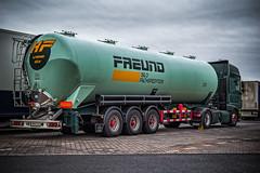 "DAF XF 510 - ""H.FREUND"" rear view (Peters HDR hobby pictures) Tags: petershdrstudio hdr truck dafxf trailer tankroadtrain sky green lkw sattelzug tankzug silotankzug zugmaschine zugmaschinemitauflieger grün berlin"