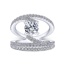 Original NOVA Renewal Design With Swinging Strands of Pave Diamonds in 14k White Gold Engagement Ring Setting (diamondanddesign) Tags: originalnovarenewaldesignwithswingingstrandsofpavediamondsin14kwhitegoldengagementringsetting er12416r4w44jj bridal rd engagement rings gbbr 65 068 ct gabriel ny diamond 14k white gold bottom