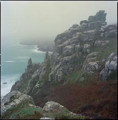 sunrise (steve-jack) Tags: hasselblad 501cm 50mm cfi kodak portra 160 film 120 6x6 medium format cliffs coast cornwall mist fog tetenal c41 epson v500