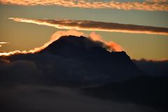 DSC_5582 (griecocathy) Tags: paysage lever soleil nuage pic bugarach brume sombre lumineux blanc bleu noir oranger jaune turquoise h