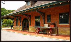 Old Train Depot (Jerry Jaynes) Tags: lynchburgii lynchburgii011edcf nc traindepot wagon luggage trainstation trees timesgoneby nikkor1685vr marion