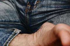 healonthigh (Matter is Spirit) Tags: male man foot bulge jeans fine art artistic erotic