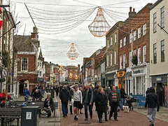 Chichester (Jainbow) Tags: chichester northstreet christmas decorations lights street road people shops jainbow