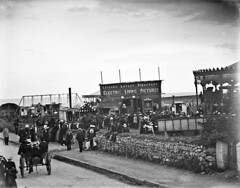 Tramore Races. Toft's Show. Tramore Amusement Field (National Library of Ireland on The Commons) Tags: ahpoole arthurhenripoole poolecollection glassnegative nationallibraryofireland wtoftcons toft tofts amusements edison edisons electriclivingpictures films tramore cowaterford waterford munster races horseracing tramoreraces 1901 amusementfield tramoreites motorcarexplosion explosionofamotorcar cinematograph sideshow funfair merries manofmanycoats tramoreamusements edisonstudios williamtoft'stravellingfair williamtoft pipers countywaterford carousel chairoplane pipersfield wurlitzermilitarybandorgan strandroad johbeach johnbeach