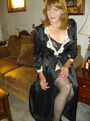 Something A Bit Risque From My Sordid Past (Laurette Victoria) Tags: black stockings brunette woman laurette
