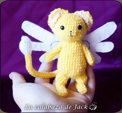 Kero Amigurumi - Sakura Card Captor (LaCalabazadeJack) Tags: kero keroberos sakura card captor anime cartoon tv show fan art chibi cute kawaii manga creature fantasy magic amigurumi crochet ganchillo pattern patrón felt yarn plush toy doll handmade handcraft craft tutorial la calabaza de jack cristell justicia artesanía tienda online shop comprar venta