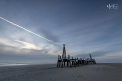 Lytham winter dusk. (miketonge) Tags: lytham pier structure decay dusk sunset beach fylde lancashire miketonge miketongephotographycouk winter seascape lythamstannes