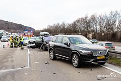 Unfall mit mehreren Verletzten auf der A3 22.02.19 (Wiesbaden112.de) Tags: a3 auffahrunfall autobahn dennisaltenhofen feuerwehr manv10 niedernhausen polizei rettungsdienst verkehrsunfall wiesbaden112