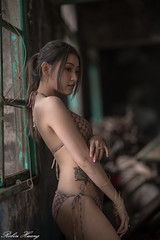 DSC_3653 (Robin Huang 35) Tags: 琉球鄉 屏東縣 中華民國 tw 馬芷涵 小琉球 小琉球排仔港潮間帶 潮間帶 比基尼 bikini 海邊 beach 遊拍 人像 portrait lady girl nikon d850 廢墟