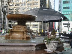 2019 Big Umbrella Academy in Bryant Park NYC 1345 (Brechtbug) Tags: big umbrella bryant park nyc 2019 february 02132019 new york city 6th avenue near 42nd st behind public library midtown manhattan the academy netflix tv series comic book based starting friday 15th bumbershoot umbrellas