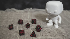 Funko Pop Man and Runic Dice (N.the.Kudzu) Tags: tabletop stilllife funkopop diy man runic dice canoneosm lensbabytrio28 lightroom