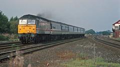 Church Fenton 1993 (paul_braybrook) Tags: class47 diesel churchfenton northyorkshire crosscountry signalbox railway trains