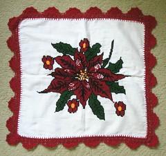 Mexican Embroidery Puebla Textiles Flowers (Teyacapan) Tags: flordenochebuena poinsettias flores flowers bordados textiles servilleta puebla cuacuila nahua mexican