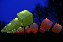 magicae cubes (JB Fotofan) Tags: ultramarin sky blue würfel cubes kubus colorful bunt fz1000 lumix 2018 frankfurt palmengarten winterlichter