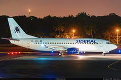 PR-SDG Sideral Air Cargo Boeing 737-33A(QC) Passenger version (RafaelBateraSSA) Tags: ssa sbsv salvador night boeing airbus nikon sideral avianca jordan tap copa airlines gulfstream g450 737f a320 767 a330 planes spotter