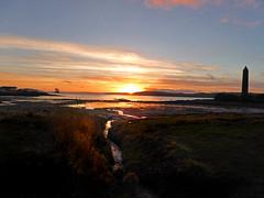 Ne'erday Largs Walk3 (g crawford) Tags: largs ayrshire northayrshire sunset sundown gloaming clyde firthofclyde water sky weather orange yellow skies blue pencil battleoflargs 1263 viking norse
