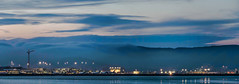 horizontal plane (pbo31) Tags: bayarea california nikon d810 color march 2019 boury pbo31 sanfranciscointernational sfo plane aviation airport burlingame sanmateocounty fog panoramic large stitched panorama blue airline travel sunset sanbrunomountain alaska 737 reflection carl
