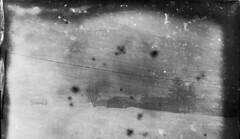 Farm in snow storm (Sonofsono) Tags: dry plate black bw white winter snow soviet fkd 13x18 glass film finland farm expired