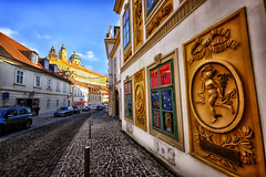 Abbey on the hill in Melk, Austria (` Toshio ') Tags: toshio melk austria europe europeanunion melkabbey theater street village town abbey religion sidewalk car austrian fujixe2 xe2