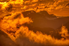 Crazy sunset (RuneKC) Tags: romsdal geiranger blåhornet dalsnibba norway mountains sunset clouds hdr nature