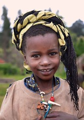 Young Girl, Dizi Tribe (Rod Waddington) Tags: africa african afrika afrique ethiopia ethiopian omo valley portrait culture cultural young girl child streetphotography candid shy dizi tribe tribal ethnic
