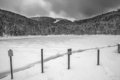 Le Lac de la Lauch (mrieffly) Tags: neige glace lacgelé massifdumarkstein alsace htrhin canoneos50d valléedeguebwiller