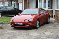 1997 Toyota Celica (doojohn701) Tags: vintage retro japanese 1997 orange red reflection classic car toyota celica gt windows reflections houses alloys belvedere uk