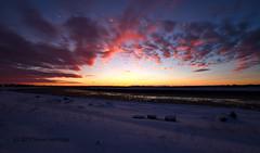 Before Sunrise 12 Jan 2019 (Trevdog67) Tags: clouds red blue purple orange yellow sky ocre frozen river petitcodiac snow frigid verycold nature naturephotography naturelovers outdoors hiver ciel moncton newbrunswick nouveaubrunswick canada nikon sigma