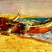 Launching the boat into the sea (1927-1929) - Adriano de Sousa Lopes
