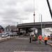 Building the south end of the northbound SR 99 off-ramp