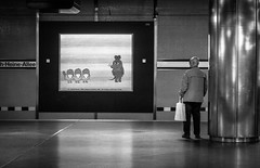 Die Maus (ThorstenKoch) Tags: street streetphotography stadt strasse schwarzweiss metro tube underground maus mouse tv düsseldorf duesseldorf pov photography people photographer picture pattern art architecture architektur alone monochrome man sunday fuji fujifilm xt10 birds vögel
