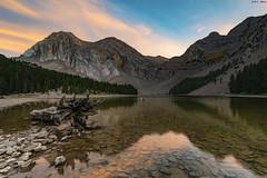 El minuto de oro (sostingut) Tags: d750 nikon tamron otoño reflejo lago agua montaña ladera atardecer soledad serenidad paisaje bosque madera tronco árbol roca transparencia pirineos cielo nubes llacspirineus