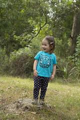 a stump to stand on (louisa_catlover) Tags: karwarra garden karwarraaustraliannativebotanicgarden dandenongs outdoor nature portrait child family toddler daughter tabby tabitha