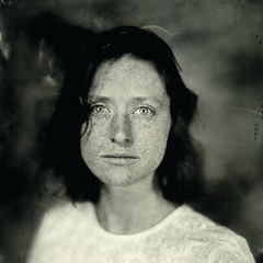 Pauline Wetplate collodion ([Eric OLIVIER]) Tags: portrait girl largeformat wetplate collodion humide wetplateportrait wetplatecollodion portraitcollodion noiretblanc blackandwhite carl zeiss jena analogic filmisnotdead fineart square formatcarré diy photography girlportrait