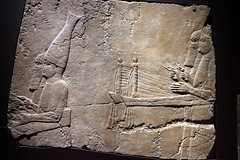 Musicians entertaining at a victory feast (calmeilles) Tags: london england unitedkingdom ashurbanipal britishmuseum assyria ancienthistory archaeology middleeast nineveh