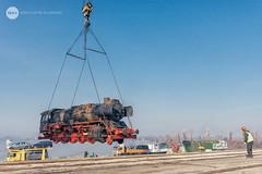 Here we go (BackOnTrack Studios) Tags: dr 50 3670 36702 dampflok dampflokomotive steam locomotive loco unloading floating crane titan drb railways train lok bulgaria ruse port danube