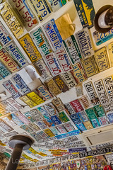 License Plates in Hackberry General Store along Historic Route 66 in Arizona (Lee Rentz) Tags: america arizona dustbowl getyourkicksonroute66 hackberry hackberrygeneralstore historicroute66 mainstreetofamerica northamerica route99 steinbeck thegrapesofwrath usroute66 us66 willrogershighway americanwest americana artifacts ceiling collection fun generalstore goodtimes highway historic history icon iconic licenseplates memorabilia memories memory nationalscenicbyway nostalgia nostalgic old past road roadtrip route sentiment sentimental shop store themotherroad thewest time transportation usa vertical