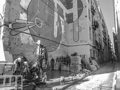 Obras (efe Marimon) Tags: canonpowershots120 felixmarimon barcelona elraval bn obras graffiti